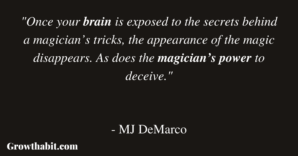 MJ DeMarco Quote