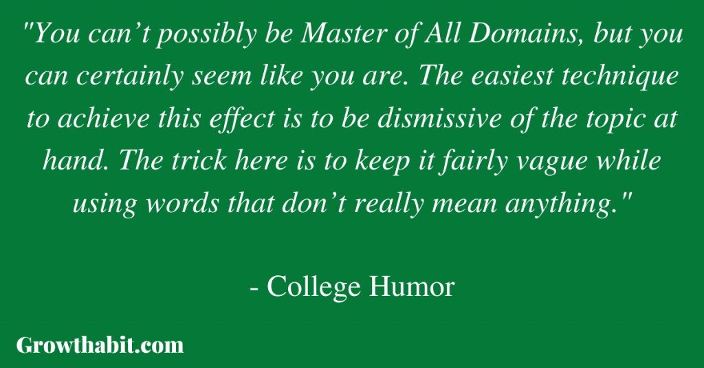 College Humor Quote