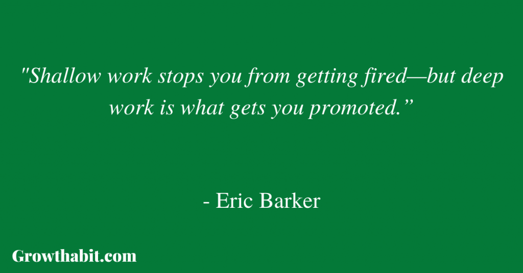Eric Barker Quote