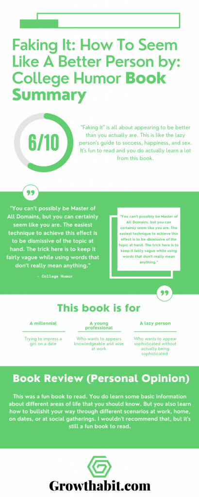 Faking It How To Seem Like A Better Person - Summary Infographic