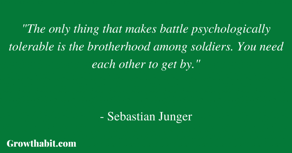 Sebastian Junger Quote 2