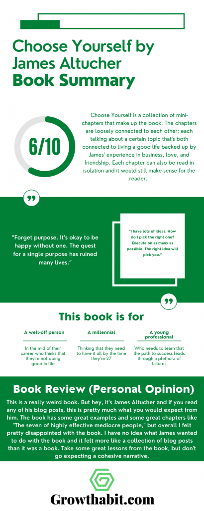 Choose Yourself by James Altucher - Book Summary Infographic