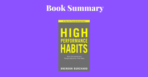 High Performance Habits Book Cover