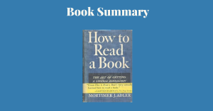 How to Read a Book - Book Cover