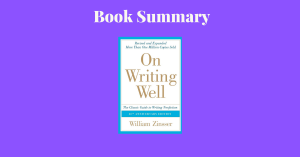 On Writing Well By William Zinsser Book Cover