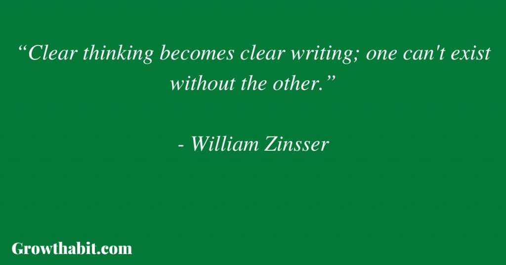 William Zinsser Quote 4