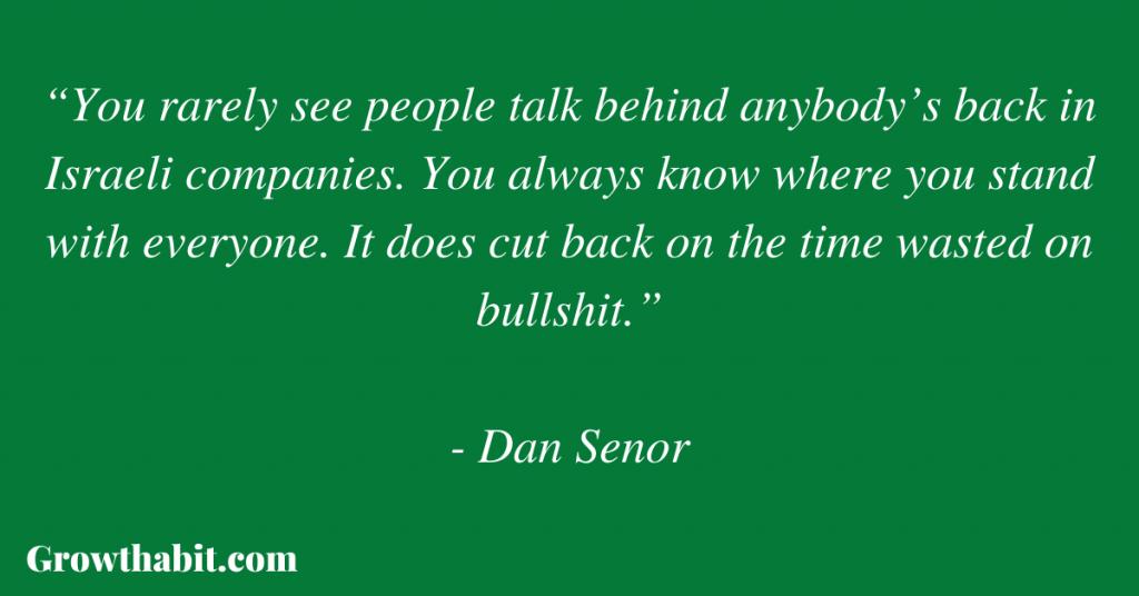 Dan Senor Quote