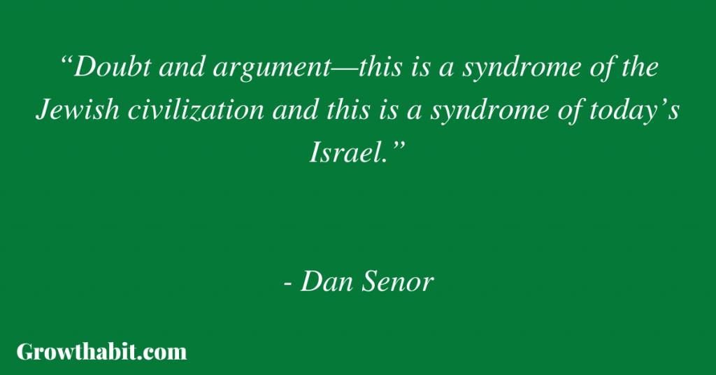 Dan Senor Quote 2